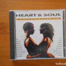 CDs de Música: CD HEART & SOUL - 18 CLASSIC SOUL CUTS (1Y). Lote 164062390
