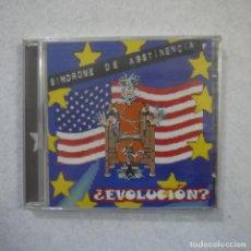 CDs de Música: SÍNDROME DE ABSTINENCIA - ¿EVOLUCIÓN? - CD PRECINTADO . Lote 164167010