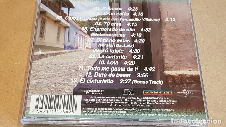 CDs de Música: FIRMADO !! OMAR ENRIQUE / PRINCESA / CD - SONOGRAFICA-VENEZUELA / FIRMADO POR EL ARTISTA. - Foto 3 - 164191742