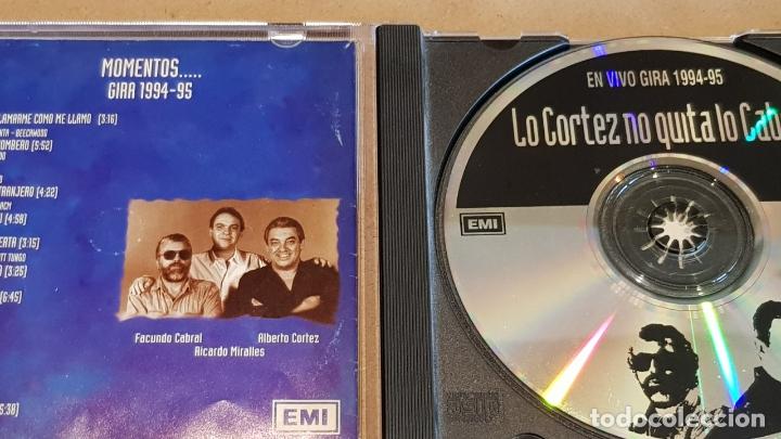 CDs de Música: LO CORTEZ NO QUITA LO CABRAL / MOMENTOS - GIRA 1994-95 / CD - EMI / 17 TEMAS / LEVES MARCAS - Foto 2 - 164237266