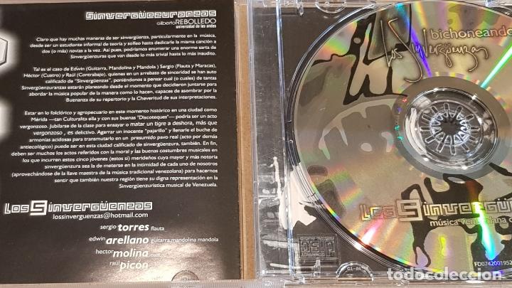 CDs de Música: LOS SINVERGUENZAS / BICHONEANDO / CD - MÚSICA VENEZOLANA / 10 TEMAS / DE LUJO. - Foto 2 - 164239810