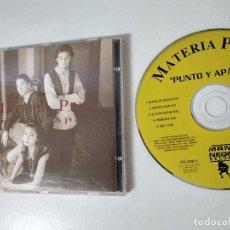 CDs de Musique: MATERIA PRIMA - PUNTO Y APARTE / CD MANO NEGRA RECORDS DE 1995. Lote 164580382