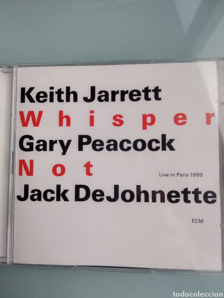 KEITH JARRETT / GARY PEACOCK / JACK DEJOHNETTE – WHISPER NOT (LIVE IN PARIS 1999) (DOBLE CD) (Música - CD's Jazz, Blues, Soul y Gospel)