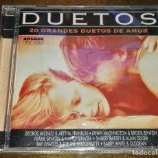 CDs de Música: DUETOS: 20 GRANDES DUETOS DE AMOR CD DESCATALOGADO. Lote 164637210