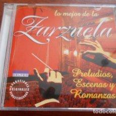 CDs de Música: 2 CD´S COLECCIÓN PLATINO -LO MEJOR DE LA ZARZUELA. Lote 164709962