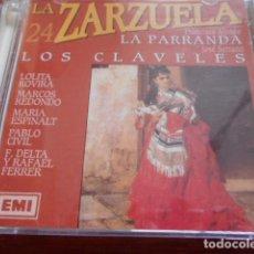 CDs de Música: 2 CD´S LUISA FERNANDA-LA GRAN VIA+LA ZARZUELA/24(ALONSO-LA PARRANDA),SERRANO-LOS CLAVELES). Lote 164710910