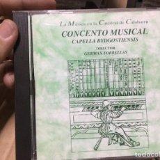 CD de Música: CD CONCENTO MUSICAL CAPELLA BYDGOSTIENSIS GERMAN TORRELLAS CATEDRAL DE CALAHORRA. Lote 164764334