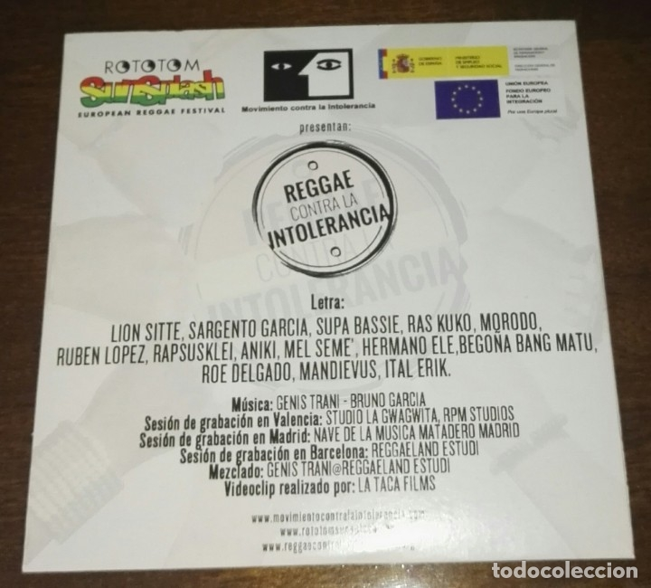 CDs de Música: REGGAE CONTRA LA INTOLERANCIA PROMO CD - Foto 2 - 164792426