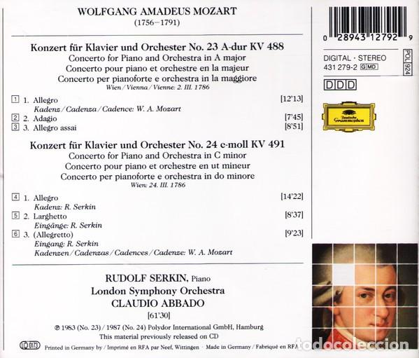 CDs de Música: Mozart - KLAVIERKONZERTE NOS. 23 & 24 - Serkin / Abbado - CD 3D Collection - Foto 2 - 164804834