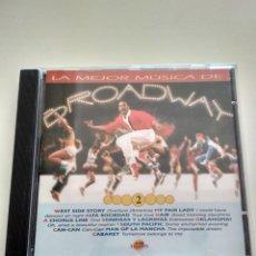 CDs de Música: LA MEJOR MÚSICA DE BRODWAY. Lote 164818314