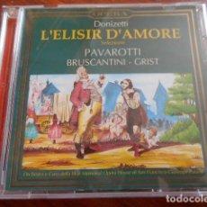 CDs de Música: 2 CD G.DONIZETTI LA FIGLIA DEL REGGIMENTO. PAVAROTTI-FRENI+ L`ELISIR D`AMORE-PAVAROTTI. Lote 164839310