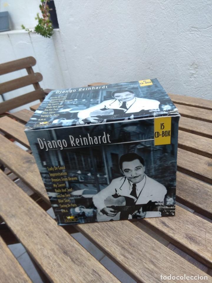 CDs de Música: DJANGO REINHARDT : 15 CD - BOX ( COMPLETISIMA CAJA CON 15 CDS / 300 TEMAS JAZZ SWING ) - Foto 2 - 164860070