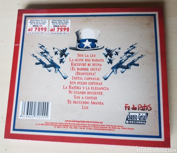 CDs de Música: FE DE RATAS - EN LA DEMOCRACIA DE MI OMBLIGO - CD, ESPAÑA. 2006. - Foto 2 - 164876541