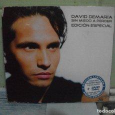 CDs de Música: DAVID DE MARIA CD + DVD SIN MIEDO A PERDER EDICION ESPECIAL DUO ANTONIO OROZCO 2003 PEPETO. Lote 164962462