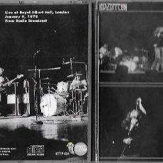 CDs de Música: LED ZEPPELIN: HISTORICAL BIRTHDAY. GRABADO EN DIRECTO EL 9 DE ENERO DE 1970 EN EL ROYAL ALBERT HALL . Lote 165013946