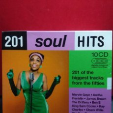 CDs de Música: 4 CD'S BOX : 201 SOUL HITS ( MARVIN GAYE, ARETHA FRANKLIN, JAMES BROWN, THE FOUR TOPS, THE MIRACLES . Lote 165056358