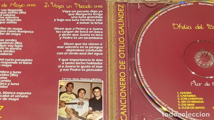 CDs de Música: OFELIA DEL ROSAL / FLOR DE MAYO / CANCIONERO DE OTILIO GALÍNDEZ / CD - VENEZUELA / 12 TEMAS / LUJO. - Foto 2 - 165110718
