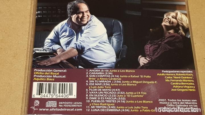 CDs de Música: OFELIA DEL ROSAL / FLOR DE MAYO / CANCIONERO DE OTILIO GALÍNDEZ / CD - VENEZUELA / 12 TEMAS / LUJO. - Foto 3 - 165110718