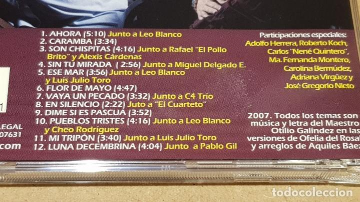 CDs de Música: OFELIA DEL ROSAL / FLOR DE MAYO / CANCIONERO DE OTILIO GALÍNDEZ / CD - VENEZUELA / 12 TEMAS / LUJO. - Foto 4 - 165110718