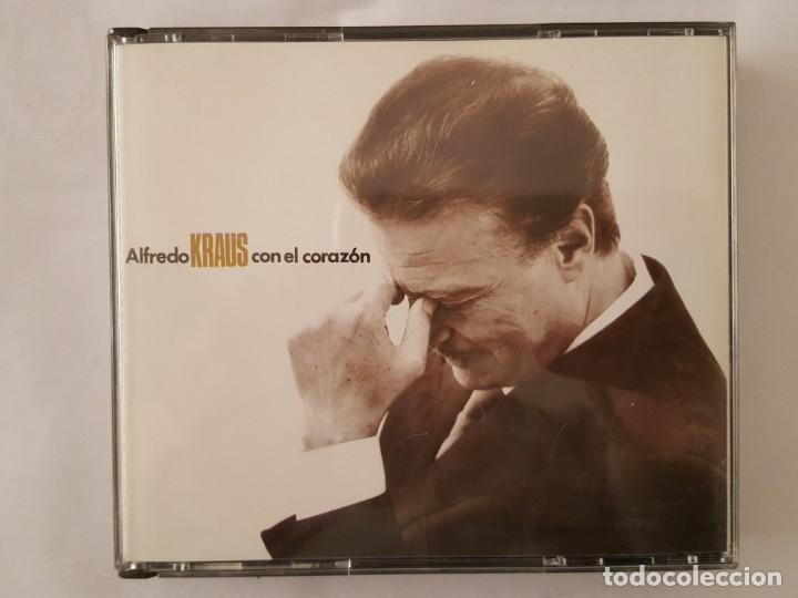 CD DOBLE / ALFREDO KRAUS / CON EL CORAZON / ZAFIRO 50512650 / 1991 / BUEN ESTADO (Música - CD's Clásica, Ópera, Zarzuela y Marchas)