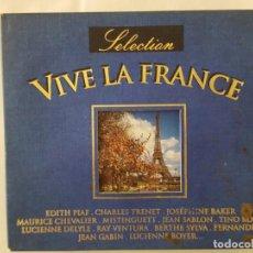 CDs de Música: CD DOBLE / VIVE LA FRANCE / SELECTION / PROMO SOUND DCD-797 BLU / 1997 / BUEN ESTADO. Lote 165132066