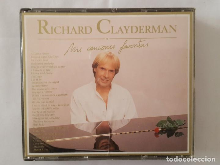 CD DOBLE / RICHARD CLAYDERMAN / MIS CANCIONES FAVORITAS / DELPHINE 9031-74908-2 / 1991 / COMO NUEVO (Música - CD's Melódica )