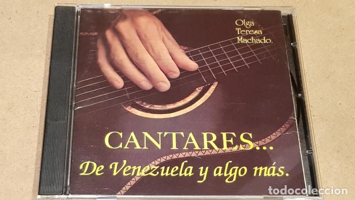OLGA TERESA MACHADO / CANTARES DE VENEZUELA Y ALGO MÁS. / CD - LEON / 22 TEMAS / BUENA CALIDAD. (Música - CD's Latina)