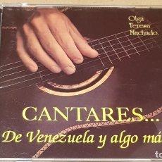 CDs de Música: OLGA TERESA MACHADO / CANTARES DE VENEZUELA Y ALGO MÁS. / CD - LEON / 22 TEMAS / BUENA CALIDAD.. Lote 165137590