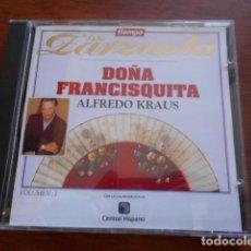 CDs de Música: CD ZARZUELA -DOÑA FRANCISQUITA 1 ALFREDO KRAUS. Lote 165157750
