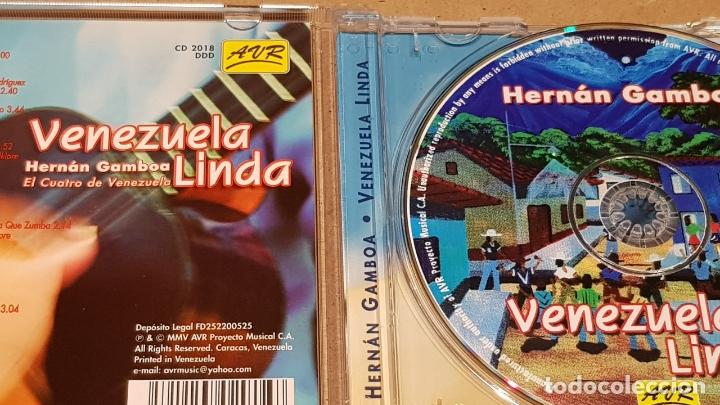 CDs de Música: HERNÁN GAMBOA / VENEZUELA LINDA / CD - AVR-VENEZUELA / 20 TEMAS / CALIDAD LUJO. - Foto 2 - 165189910