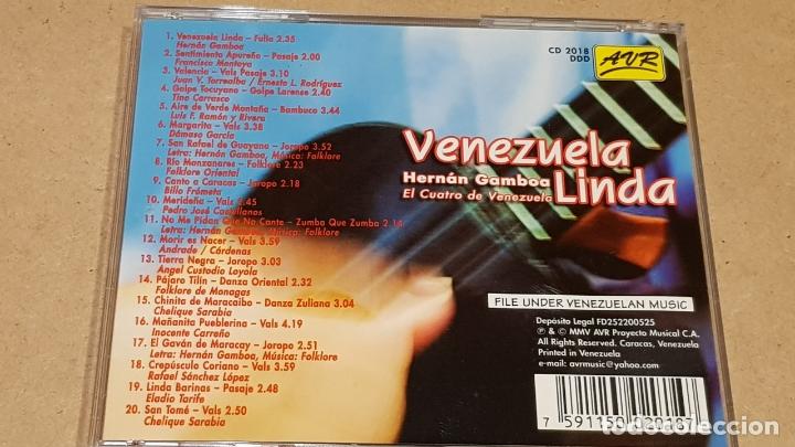 CDs de Música: HERNÁN GAMBOA / VENEZUELA LINDA / CD - AVR-VENEZUELA / 20 TEMAS / CALIDAD LUJO. - Foto 3 - 165189910