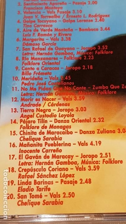 CDs de Música: HERNÁN GAMBOA / VENEZUELA LINDA / CD - AVR-VENEZUELA / 20 TEMAS / CALIDAD LUJO. - Foto 4 - 165189910