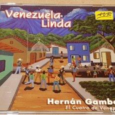 CDs de Música: HERNÁN GAMBOA / VENEZUELA LINDA / CD - AVR-VENEZUELA / 20 TEMAS / CALIDAD LUJO.. Lote 165189910