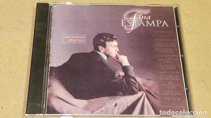 CAETANO VELOSO / FINA ESTAMPA / CD - POLYGRAM-BRASIL-1994 / 15 TEMAS / LUJO. (Música - CD's Latina)