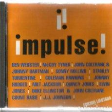 CDs de Música: CD IMPULSE ( RECOPILATORIO DE JAZZ ) BEN WEBSTER, SONNY ROLLINS, COLEMAN HAWKINS, JOHN COLTRANE ETC . Lote 165262102