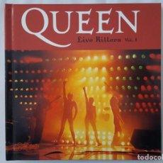 CDs de Música: CD LIBRO / QUEEN / LIVE KILLERS VOL.1 / EDICIONES PRIMERA PLANA / 2008 / NUEVO. Lote 174047107