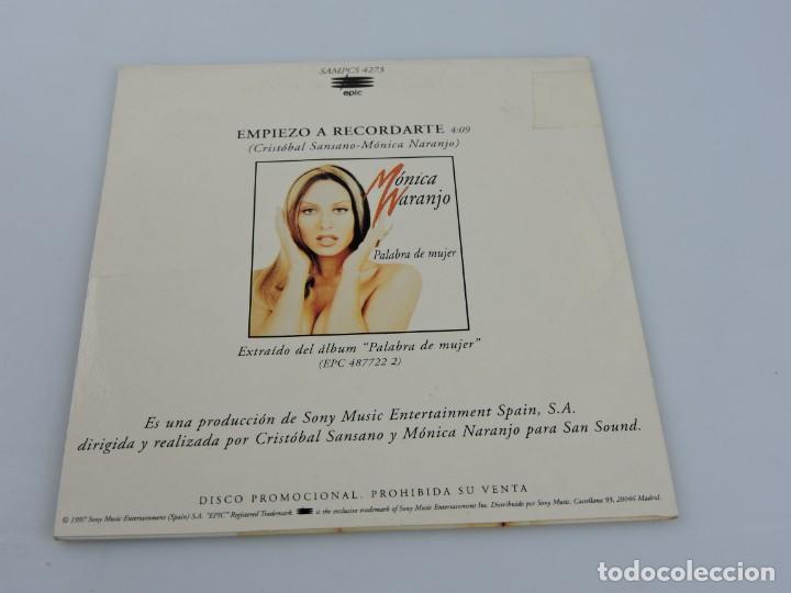 CDs de Música: MONICA NARANJO - EMPIEZO A RECORDARTE SINGLE PROMO CD - Foto 2 - 165335594