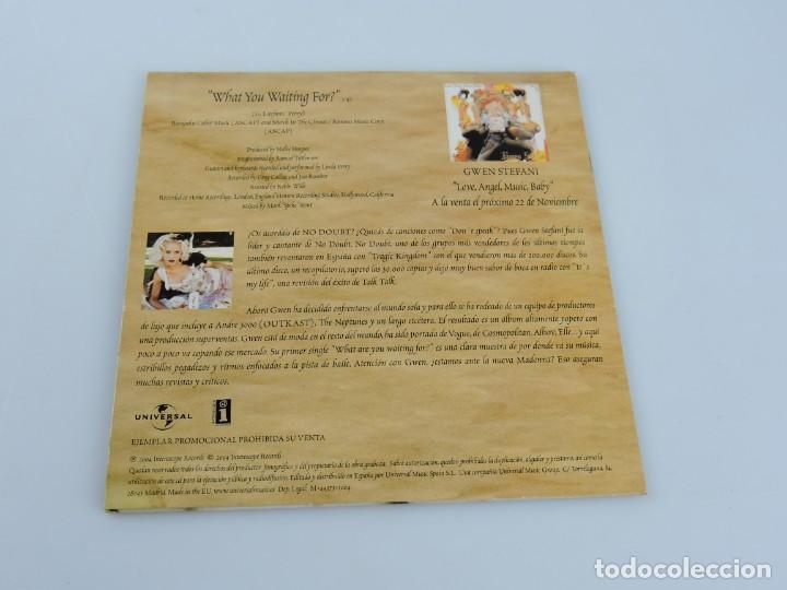 CDs de Música: GWEN STEFANI WHAT YOU WAITING FOR? SINGLE PROMO CD - Foto 2 - 165338186