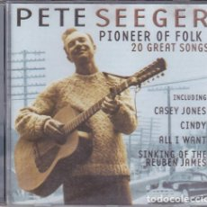 CDs de Música: PETE SEEGER - PIONEER OF FOLK - 20 GREAT SONGS. Lote 165399166