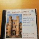 CDs de Música: BRITTEN. REJOICE IN THE LAMB / HYMN TO ST CECILIA (CD). Lote 165489250