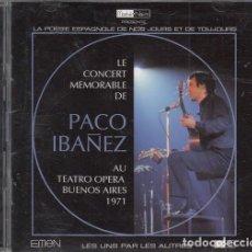 CDs de Música: PACO IBAÑEZ - LE CONCERT MEMORABLE AU TEATRO OPERA BUENOS AIRES -1971 - DOBLE-CD #. Lote 165620054