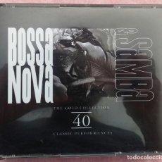 CDs de Música: BOSSA NOVA & SAMBA - THE GOLD COLLECTION, 2CD (PROPER / RETRO, 1998) // AXÉ / FORRÓ / SALSA / REGGAE. Lote 165623782
