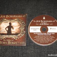 CDs de Música: JOE BONAMASSA - THE BALLAD OF JOHN HENRY - PROMO - PROVOGUE - L -. Lote 165662534