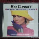 CDs de Música: RAY CONNIFF (16 MOST REQUESTED SONGS) CD 1986. Lote 165890958