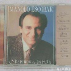 CDs de Música: MANOLO ESCOBAR (SUSPIROS DE ESPAÑA) CD 2004 - SERRAT, JULIO IGLESIAS, ROCIO JURADO, ROCIO DURCAL..... Lote 166208942