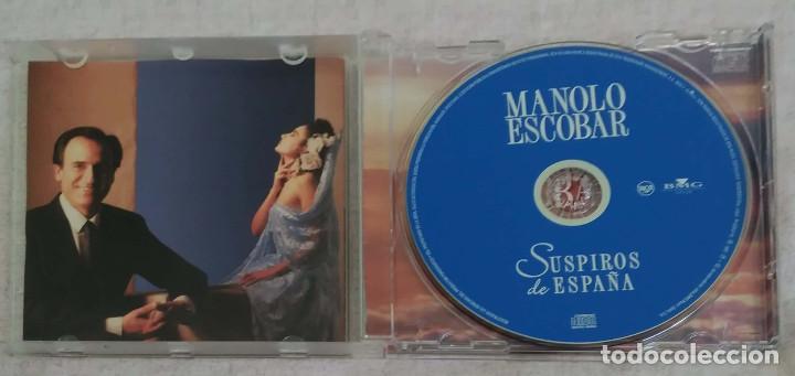 CDs de Música: MANOLO ESCOBAR (SUSPIROS DE ESPAÑA) CD 2004 - SERRAT, JULIO IGLESIAS, ROCIO JURADO, ROCIO DURCAL.... - Foto 3 - 166208942