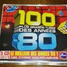 CDs de Música: 100 PLUS GRANDS TUBES DES ANNEES 80 5CD EMI DESCATALOGADO RARO. Lote 166320282