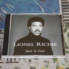 CDs de Música: LIONEL RICHIE - BACK TO FRONT - MOTOWN - 530 018-2 - CD. Lote 166396702