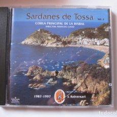 CDs de Música: COBLA PRINCIPAL DE LA BISBAL - SARDANES DE TOSSA VOL.2 - CD AUDIOVISUALS DE SARRIÀ 1997 BPY. Lote 166419806
