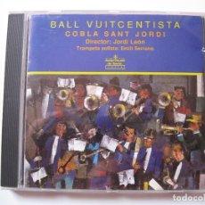 CDs de Música: COBLA SANT JORDI - BALL VUITCENTISTA - CD AUDIOVISUALS DE SARRIÀ 1990 BPY. Lote 166425562